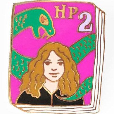 jane mount enamel pin 'hp book 2'