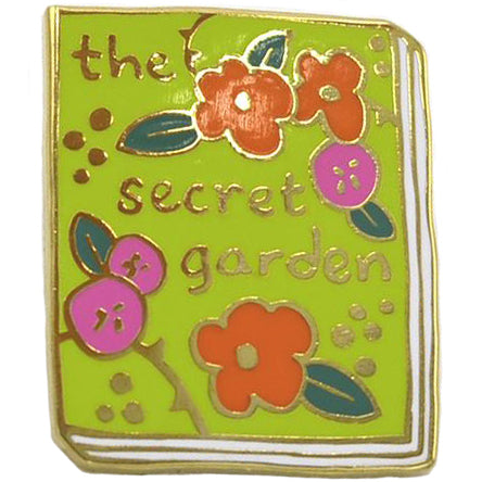 jane mount enamel pin 'the secret garden book'
