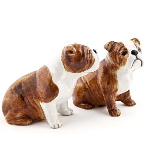 quail ceramics salt & pepper 'english bulldog'