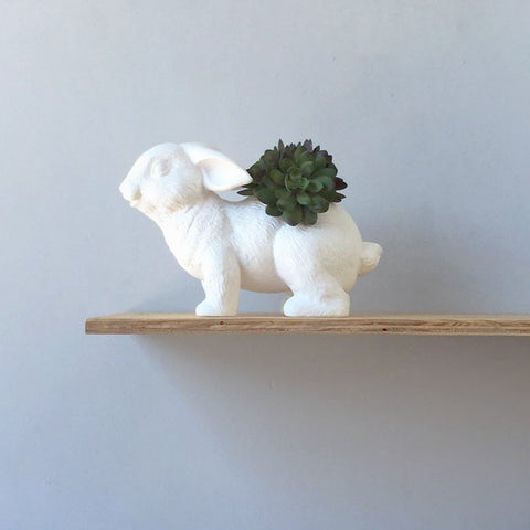 white moose planter 'bunny' white