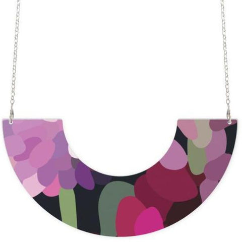 moe moe necklace 'bloom kimmy centred u shape'