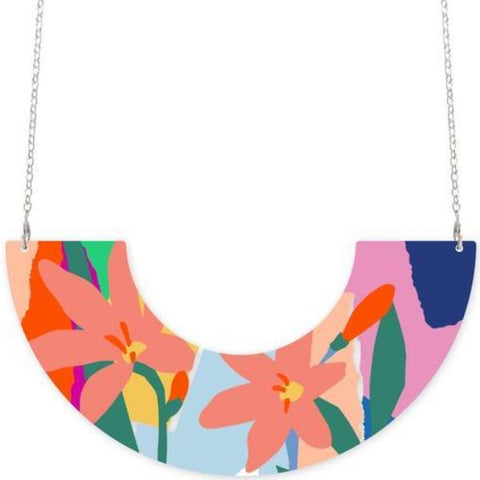 moe moe necklace 'bright leah centred u shaped'