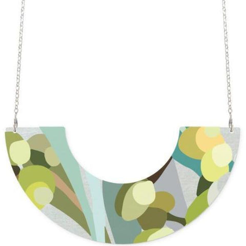 moe moe necklace 'foliage kimmy centred u shape'