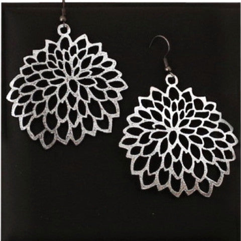 DOURY 'CAMELLIA' EARRINGS SILVER