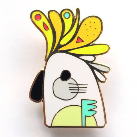 PETE CROMER 'COCKATOO' ENAMEL PIN