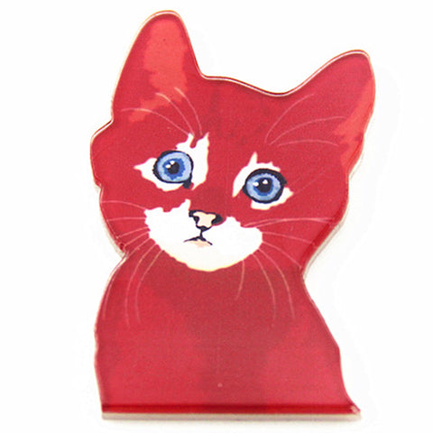 sugar acrylic brooch 'harajuku red cat'