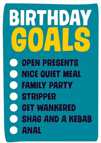 DEAN MORRIS 'BIRTHDAY GOALS' GREETING CARD