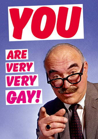 dean morris greeting card 'you are very very gay'