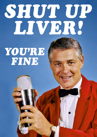 dean morris greeting card 'shut up liver' - the-tangerine-fox