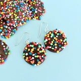 saturday lollipop earrings 'freckle' dangles
