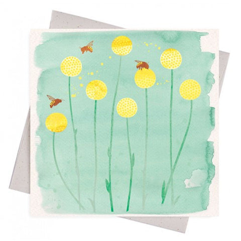 EARTH GREETINGS 'BEES + BILLY BUTTONS' GIFT CARD