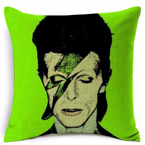 cushion cover 'pop art bowie' green