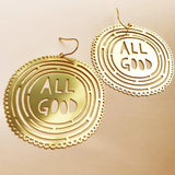 denz & co. earrings 'all good' gold