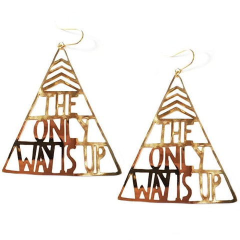 denz & co. earrings 'the only way is up dangles' gold