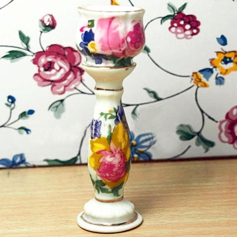 miniature ceramic 'plinth & vase' floral