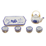 miniature ceramic tea set 'kung fu'
