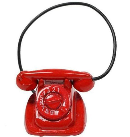 miniature telephone 'red'