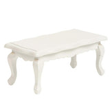 miniature coffee table 'queen anne' white