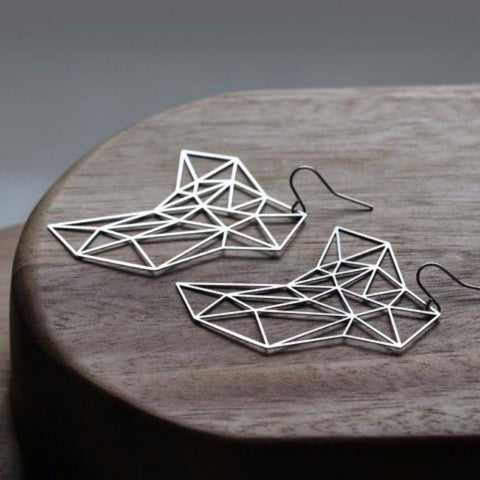 moorigin earrings 'stone' silver medium - the-tangerine-fox