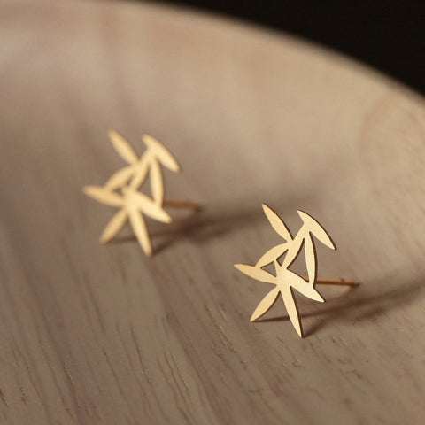 moorigin earrings 'leafy' gold xs