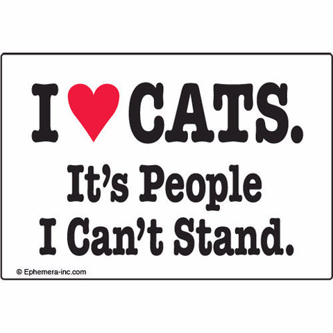 MAGNET 'I LOVE CATS. IT'S PEOPLE I CAN'T STAND'