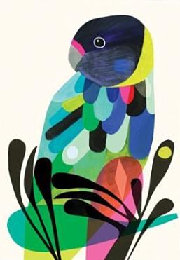 earth greetings card 'twenty eight parrot'