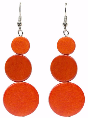 ELK '3 DISC' DROP EARRINGS ZEST