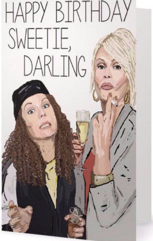 EX-GIRLFRIENDS REBELLION 'AB FAB' GREETING CARD