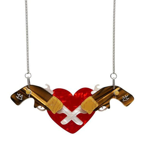 ERSTWILDER 'HOLSTERED LOVE' NECKLACE