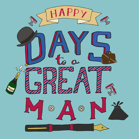 LA LA LAND GREETING CARD 'A GREAT MAN'