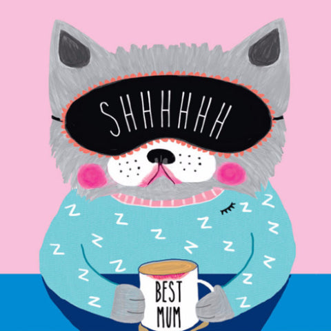 la la land greeting card 'best mum cat'