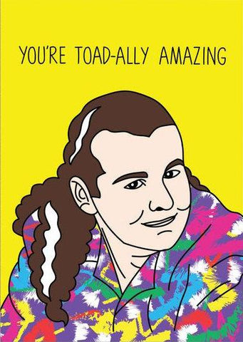 ahd paper co. greeting card 'toadally amazing'