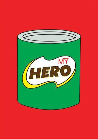 ahd paper co. greeting card 'hero tin'