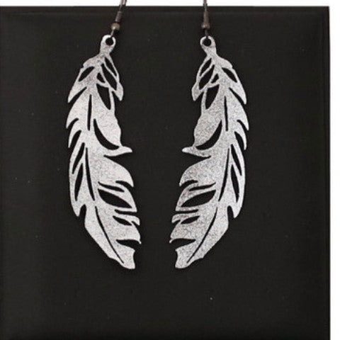 DOURY 'FEATHER' EARRINGS SILVER SML