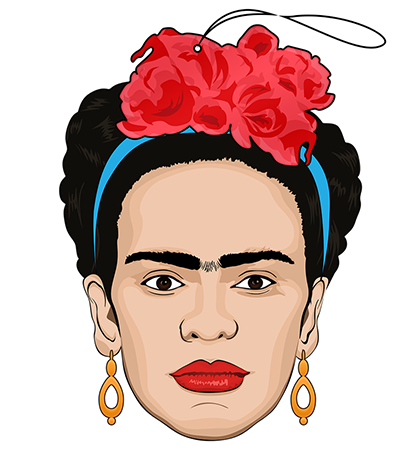 pro and hop air freshener 'frida kahlo' - the-tangerine-fox