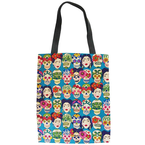 tote bag 'frida' blue