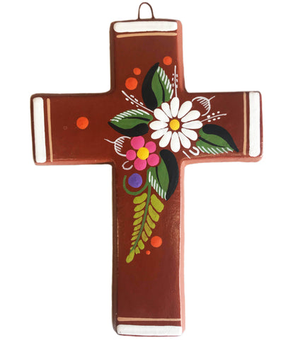 mexican cross 'clay with flowers' medium - the-tangerine-fox