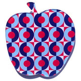 smyle designs brooch 'apple' red & blue retro