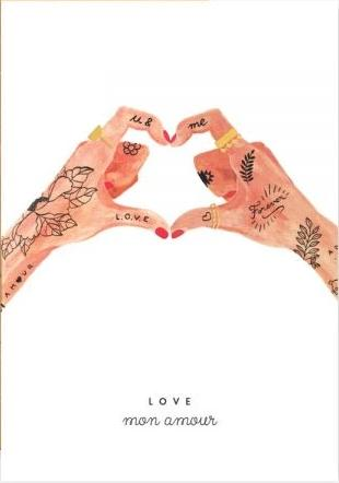 all the ways to say greeting card 'hands of love'