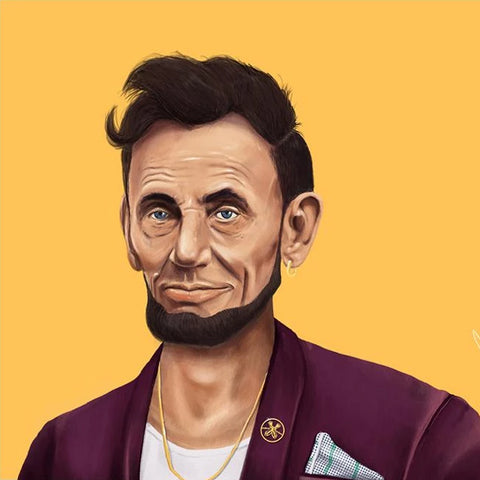 hipstory coaster 'abraham lincoln' - the-tangerine-fox