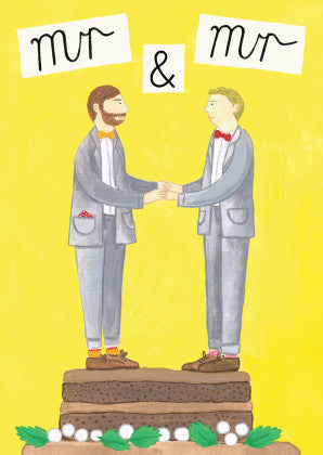 AHD 'MR & MR' GREETING CARD