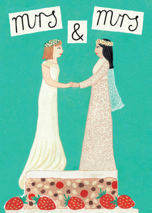 AHD 'MRS & MRS' GREETING CARD