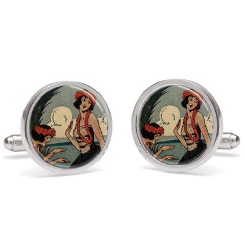 cufflinks 'hula girls'