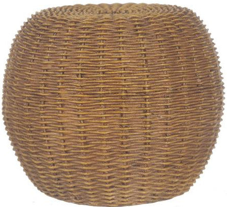 miniature resin 'wicker ottoman' - the-tangerine-fox