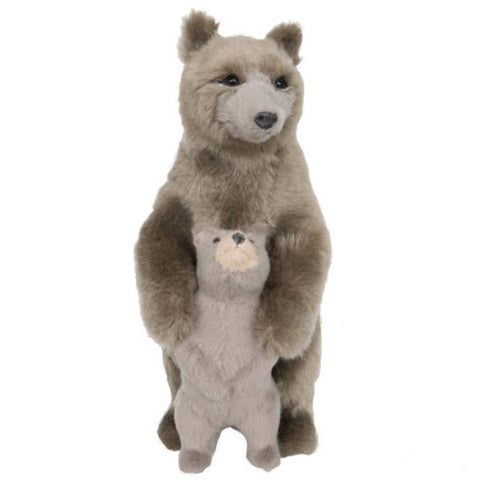 'BEAR HUG' FURRY FIGURINE