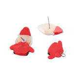 sugar earrings polymer clay 'legless christmas santa'
