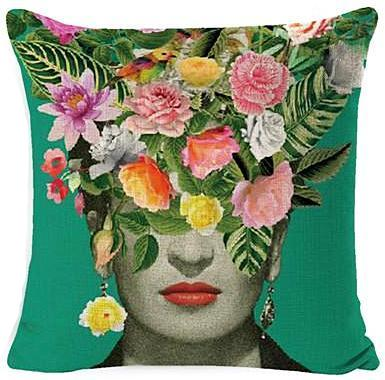 cushion cover 'frida flower veil'