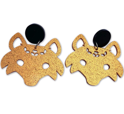 kirby jo meyer earrings 'fox' gold