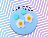 kirby jo meyer earrings 'yolkey dokey' blue
