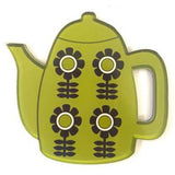 smyle designs brooch 'retro teapot' green